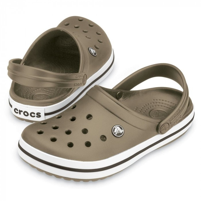 Летние кроксы Crocs Crocband хаки 38 р.