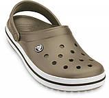 Летние кроксы Crocs Crocband хаки 38 р., фото 4