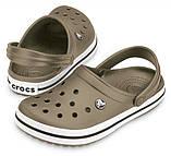 Летние кроксы Crocs Crocband хаки 38 р., фото 5
