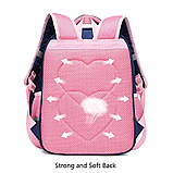 Прочный школьный светоотражающий рюкзак с ортопедической спинкой и пеналом для девочки 7, 8, 9, 10 лет, фото 3