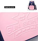 Прочный школьный светоотражающий рюкзак с ортопедической спинкой и пеналом для девочки 7, 8, 9, 10 лет, фото 7