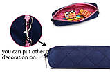 Прочный школьный светоотражающий рюкзак с ортопедической спинкой и пеналом для девочки 7, 8, 9, 10 лет, фото 10