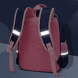 Школьный анатомический светоотражающий рюкзак с пеналом для девочки 3, 4, 5 класс (8-9-10-11 лет) портфель, фото 4