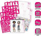 """Набор для рисования """"Модный дизайн"""" Эскизное портфолио модной одежды с трафаретами Fashion Angels, фото 7"""