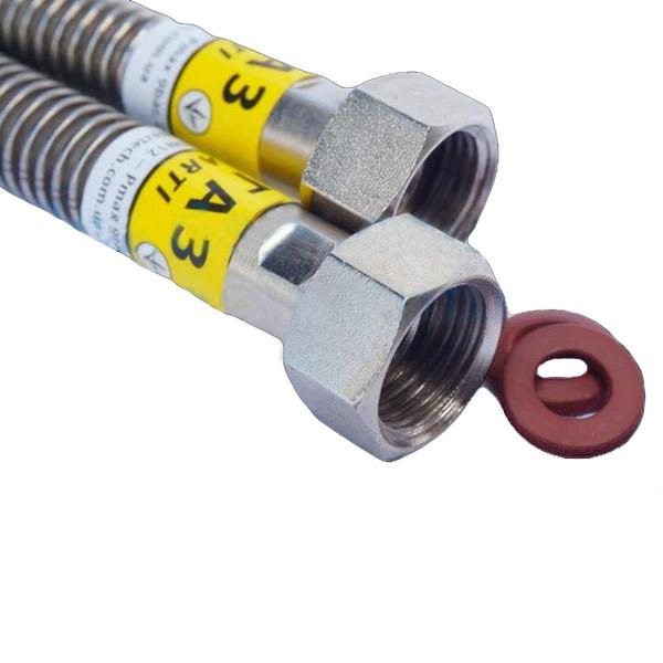 Гибкий гофрированный шланг из нержавеющей стали для газа 1/2 ГГ 800 мм