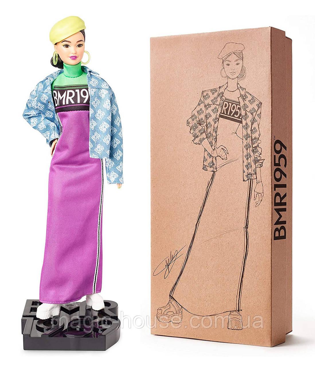 Кукла Barbie коллекционная брюнетка BMR1959 Neon Dress Denim Jacket оригинал от Mattel