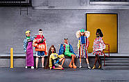 Кукла Barbie коллекционная брюнетка BMR1959 Neon Dress Denim Jacket оригинал от Mattel, фото 5