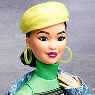 Кукла Barbie коллекционная брюнетка BMR1959 Neon Dress Denim Jacket оригинал от Mattel, фото 7
