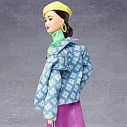 Кукла Barbie коллекционная брюнетка BMR1959 Neon Dress Denim Jacket оригинал от Mattel, фото 9