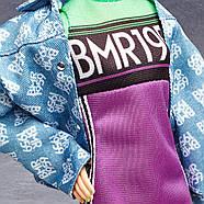 Кукла Barbie коллекционная брюнетка BMR1959 Neon Dress Denim Jacket оригинал от Mattel, фото 10
