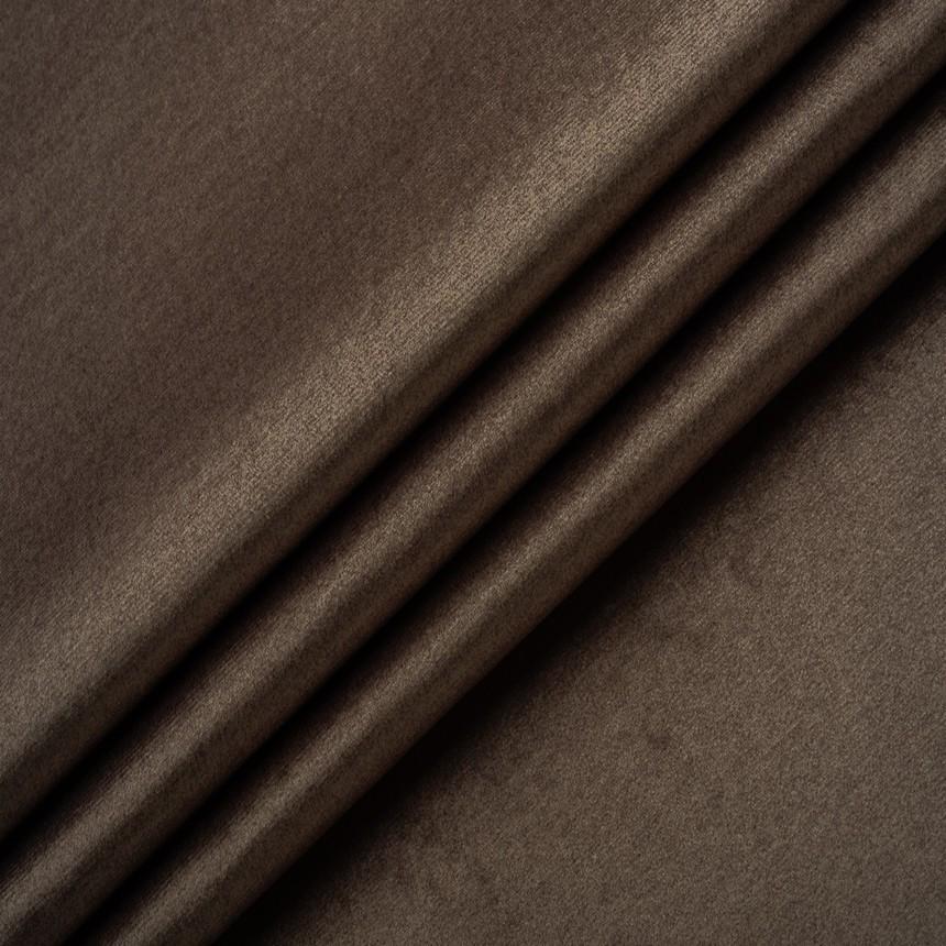 Ткнань для мебели, велюр Эмилия коричневого цвета