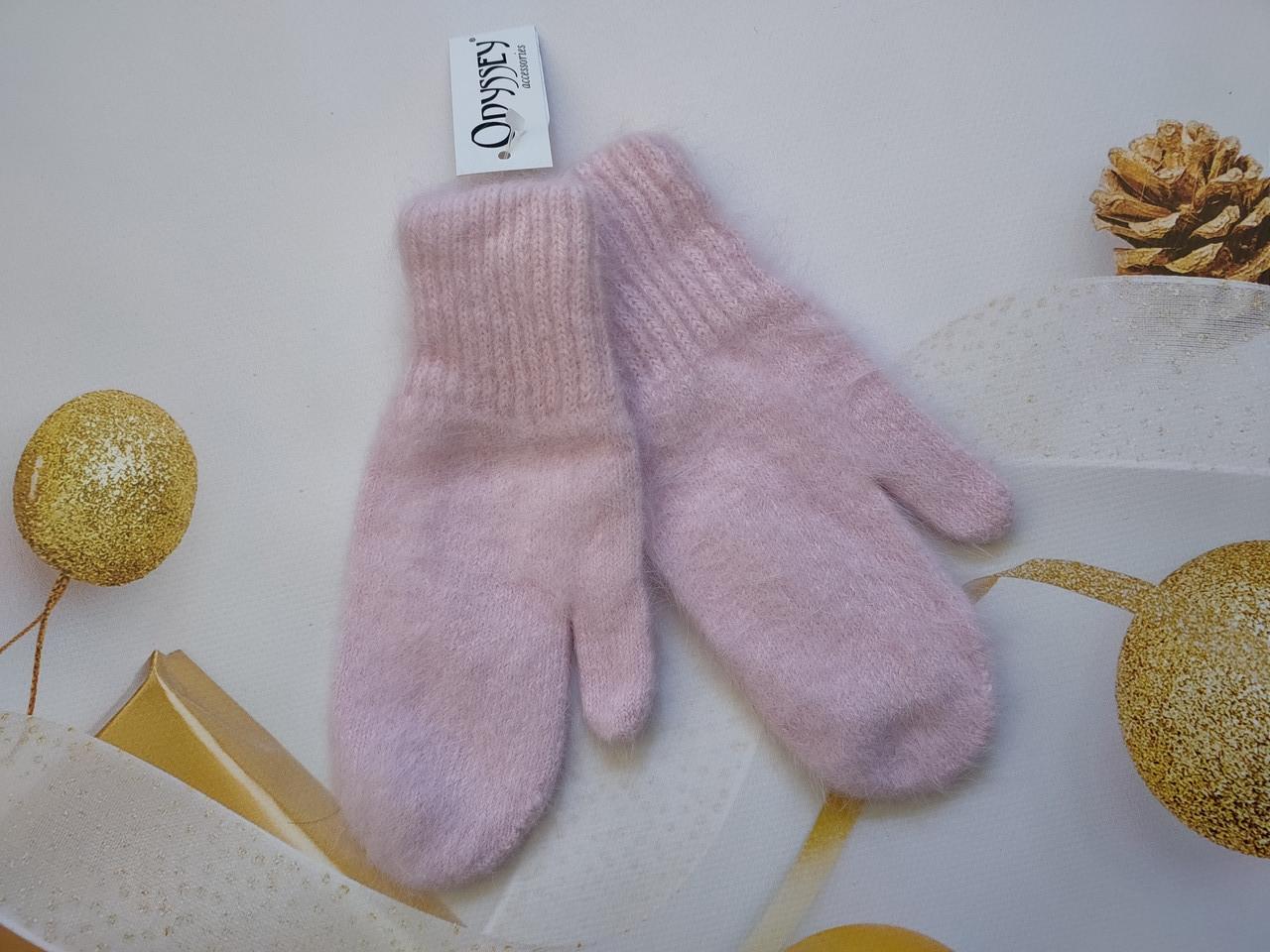 Варежки из ангоры  ODYSSEY 45716 розовый