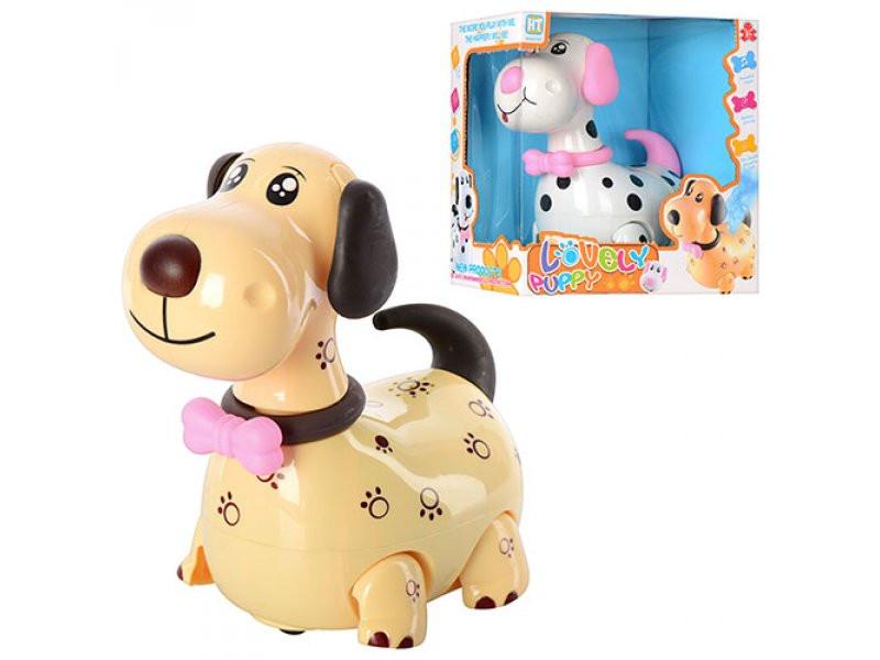 Собака HT 9925 AB музыкальные эффекты, свет, лает, ездит, 2 вида, питание от батареек, упаковка - коробка, 20,