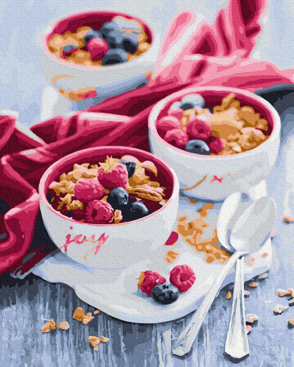 Картина по Номерам Вкусный завтрак 40х50см RainbowArt