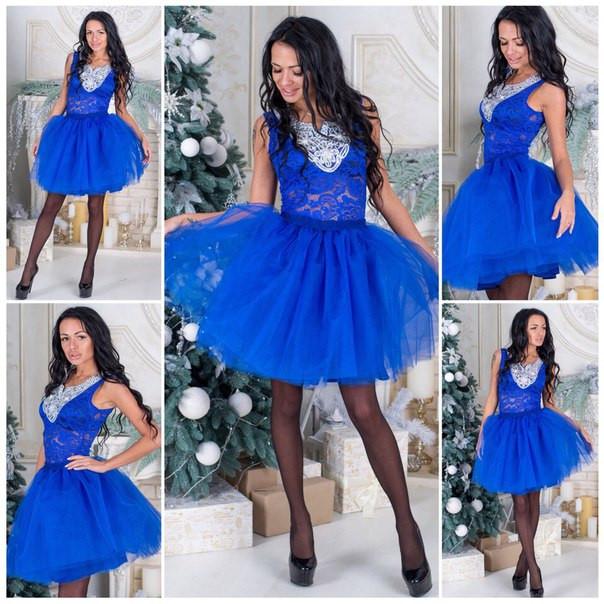 Фатиновая короткая юбка в расцветках a-51173