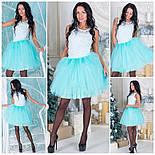 Фатиновая короткая юбка в расцветках a-51173, фото 3