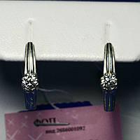 Серебряные серьги с кристаллами циркона сс 432, фото 1