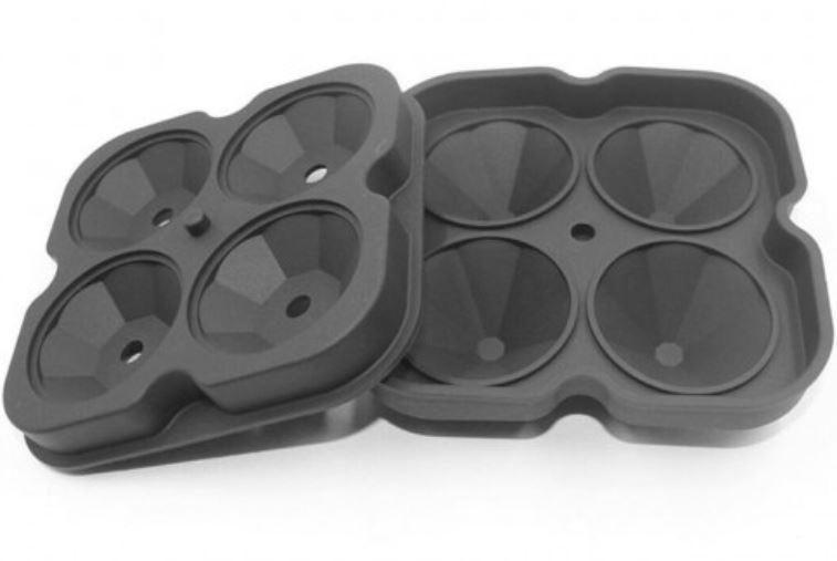 Форма для льда силиконовая 7303, черная