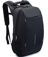 Рюкзак городской 7598 с USB, черный