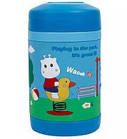 Термос детский пищевой Pinkah TMY-3343 450 мл, синий