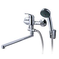 Смеситель IG Ø35 для ванны излив прямой 323мм дивертор выносной картриджный AQUATICA IG-3C249C (9709220)