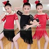 Бахрома танцевальная чёрная для одежды 13 см, тесьма 1 см, длина нитей 12 см, фото 6