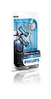 Комплект габаритных ламп W5W 12V5W Blue Vision Philips-12961BVB2-Германия