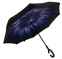 Зонт зворотного складання вітрозахисний д110см 8сп Stenson MH-2713-1, квітка