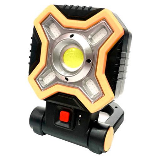Прожектор HB-9957-COB(1+4) с micro USB, белый и красные светодиоды