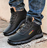 Ботинки ЗИМНИЕ Мужские Colamb!a Кроссовки на Меху Чёрные (размеры:40,41,42,43) Видео Обзор, фото 8