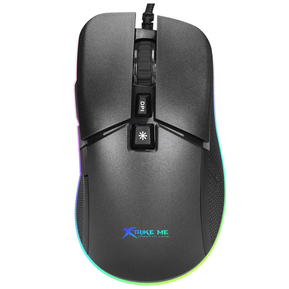 Мышь проводная игровая XTRIKE ME Gaming Backlight GM-310, черная