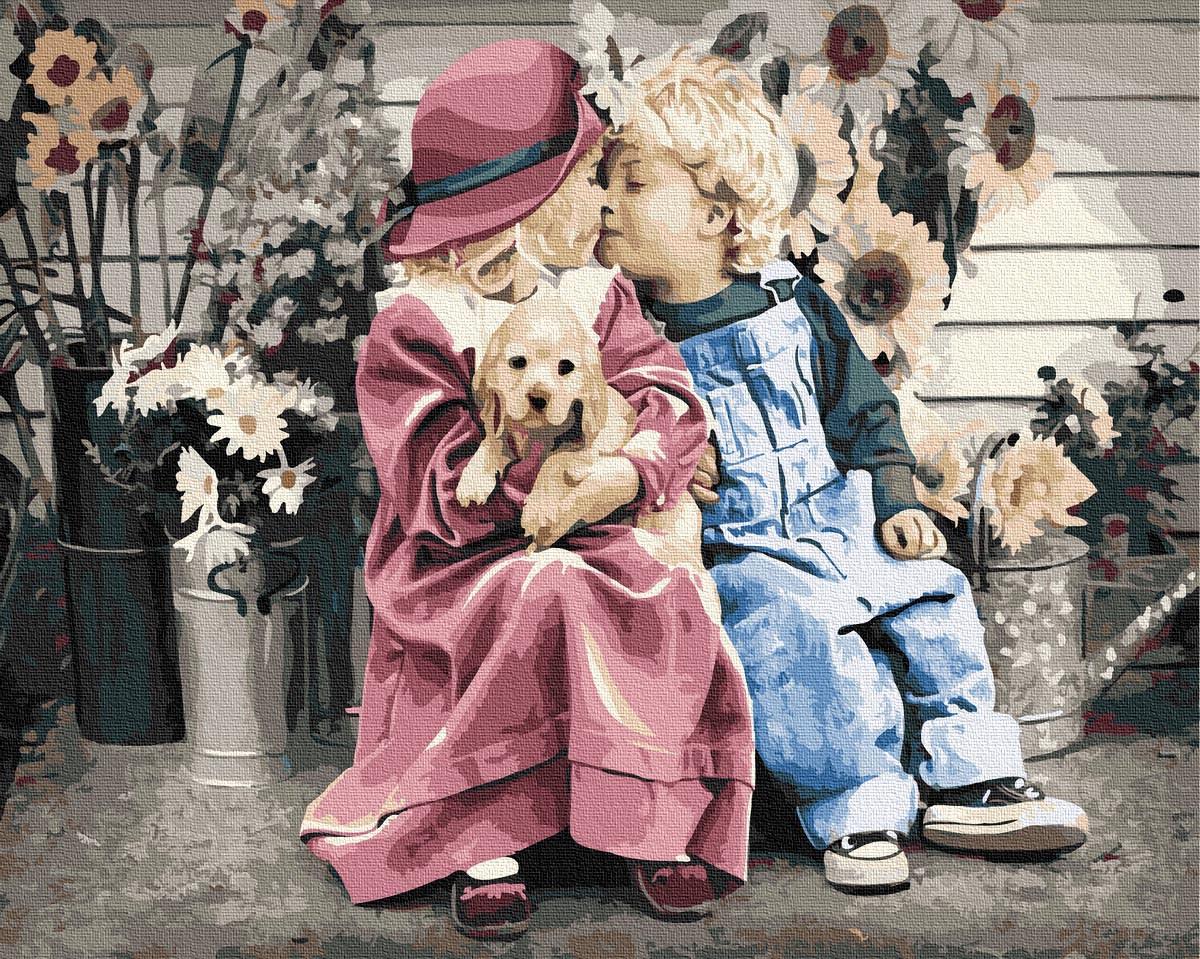 Картина по Номерам Первая любовь 40х50см RainbowArt