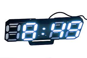 Часы настольные LED Caixing CX-2218 5399 с голубой подсветкой