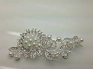 Нежные свадебные гребни для волос с сияющими кристаллами и стразами. Праздничные бижутерия оптом и в розницу.