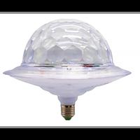 Диско шар в патрон LED UFO Bluetooth Crystal Magic Ball E27 0926
