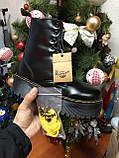 Женские ботинки Dr.Martens Jadon Black  Premium мех (копия), фото 4