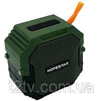 Портативная Bluetooth колонка HOPESTAR T7, зеленая
