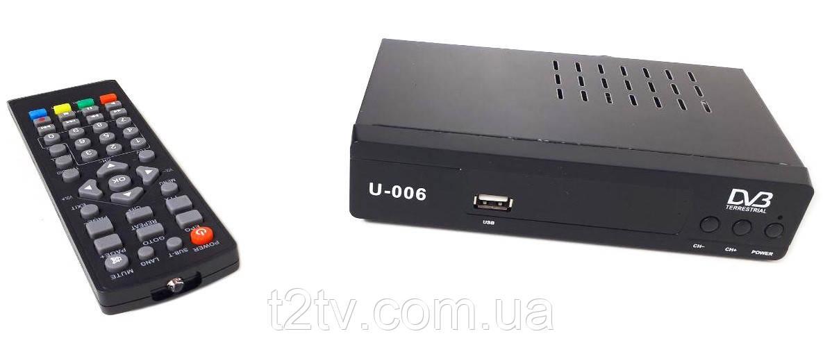 Тюнер DVB-T2 U006 с поддержкой wi-fi адаптера