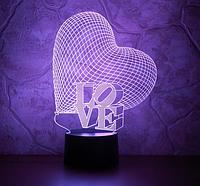 3D-светильник сердце LOVE