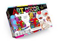 Набір з гіпсу Art Decor Ведмедик з серденьком Danko Toys