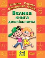 Большая книга дошкольника. Математика, чтение, письмо, логика 4-6 лет