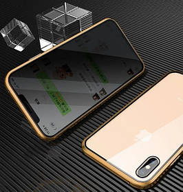 ANTI SPY Magnetic case Full Glass 360 Магнитный чехол для Apple iPhone XS Max
