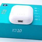 Наушники беспроводные BT KD10 TWS Bluetooth 5.0 сенсорные, блютуз стерео гарнитура, белый, фото 2