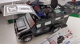 Электронная Машинка копилка + сейф + игрушка Полицейская Машина с автоматическим затягиванием купюр