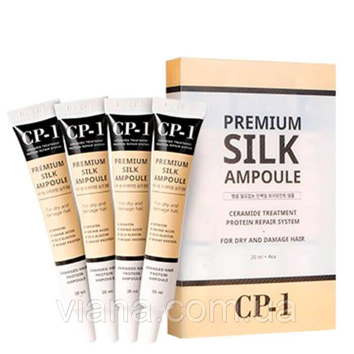 Несмываемая сыворотка для волос с протеинами шёлка Esthetic House CP-1 Premium Silk Ampoule 80 ml