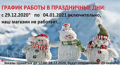 ГРАФИК РАБОТЫ В НОВОГОДНИЕ ПРАЗДНИКИ 2020 - 2021 г.