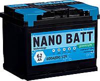 Акумулятор NANO BATT Premium - 62 +лівий (600 пуск)2020!!!