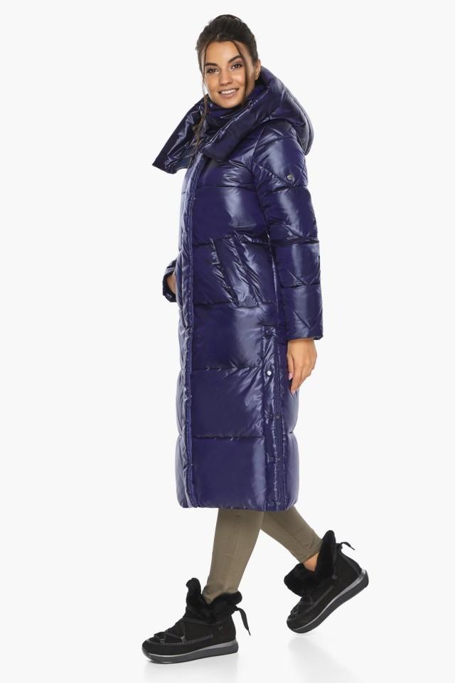 Воздуховик оригинал Braggart Angel's Fluff 41565  Зимняя куртка женская супертеплая синего цвете