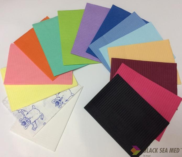 Салфетки для пациента цветные Black Sea Med Premium