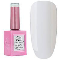 База для гель лака Global Fashion 15 мл French Rubber Base Soft White